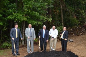 A groundbreaking for the expansion at Vulcan Industries, a subsidiary of EBSCO.